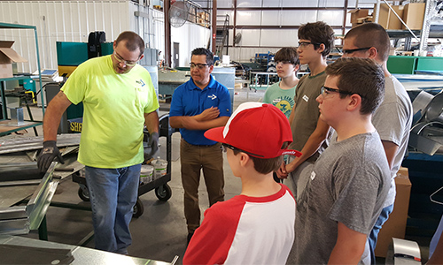 Explore Skilled Trades Camp Attendees HVAC Presentation