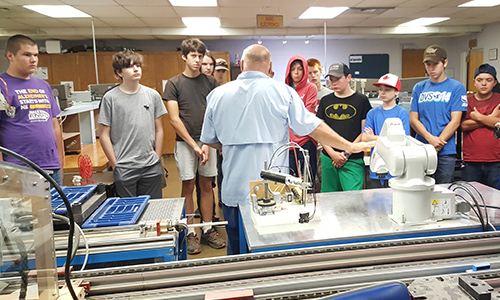 Explore Skilled Trades Camp Attendees Robotics Presentation