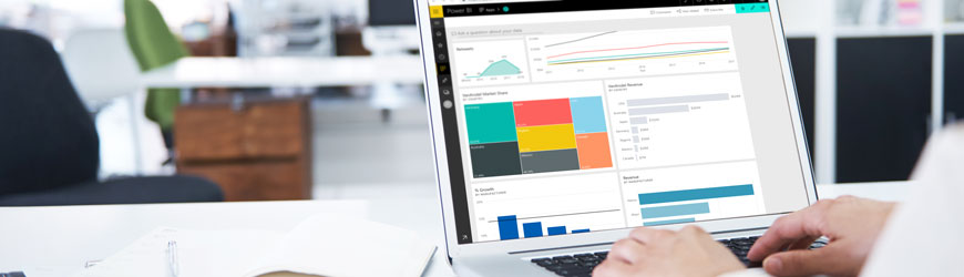 Screenshot of Microsoft Power BI dashboard