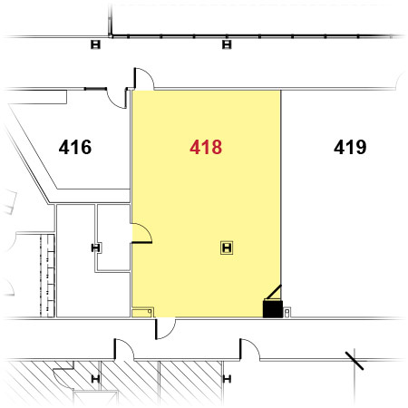 Rogers Facility - 418 Floor Plan
