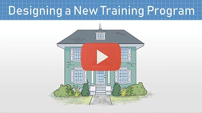 A short video with information describing the process of developing a training program.